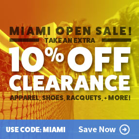 Save on Clearance Tennis Gear and Apparel