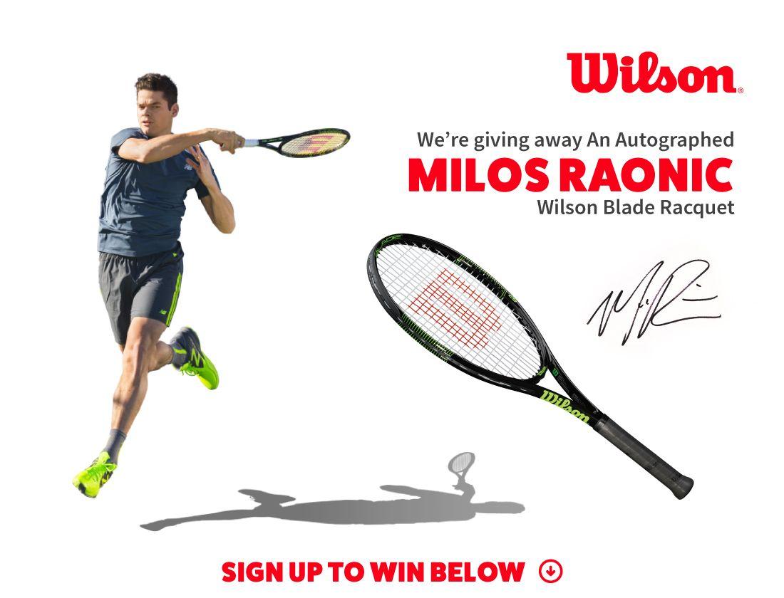 Milos Raonic Autographed Blade Racquet Giveaway