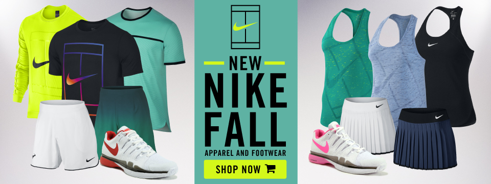 New Nike Tennis Apparel and Footwear