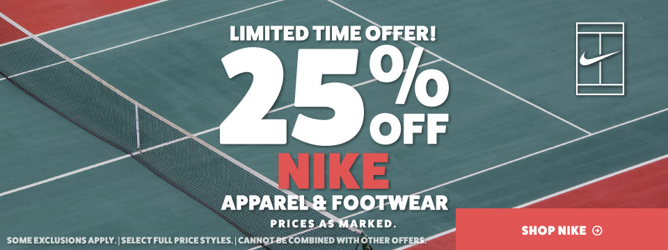 Nike Tennis Sale Apparel and Shoes