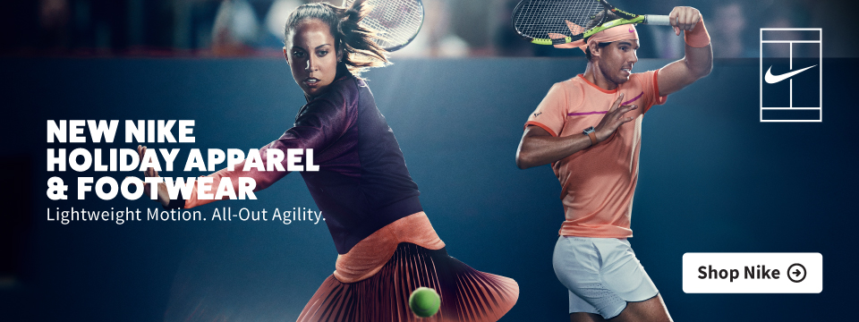 New Nike Holiday Tennis Apparel