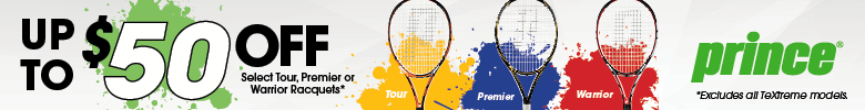 Up to $50 Off Select Prince Tour, Premier or Warrior Tennis Racquets
