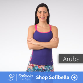 Sofibella Aruba womens tennis apparel