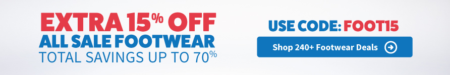 Extra 15% Off Sale Footwear