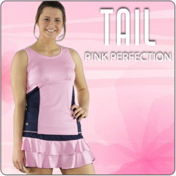 Shop Tail Women's Pink Perfection Tennis apparel