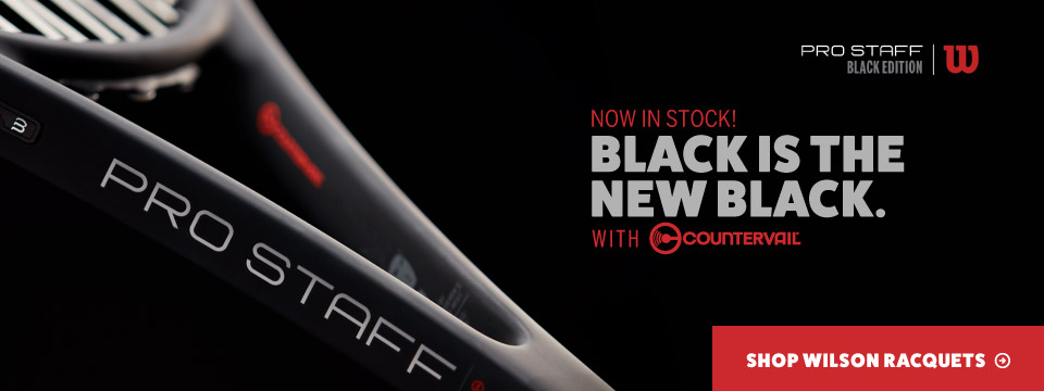 New Wilson Pro Staff Black Tennis Racquets