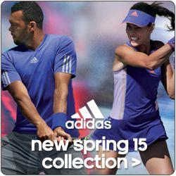 Shop New Spring 2015 adidas Tennis Apparel and Footwear