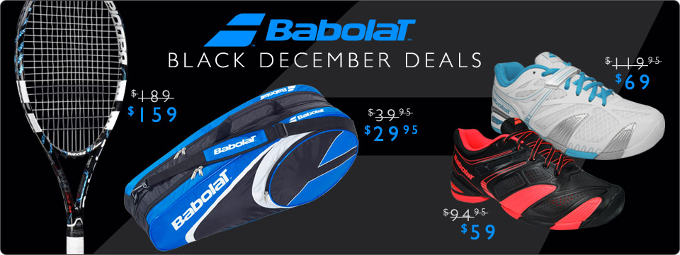 Save on Babolat Tennis Racquets, Tennis Shoes, and Tennis Bags