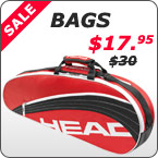 Offering the best prices on tennis bags, lots of great deals on bags