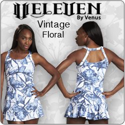 Shop Womens Eleven Vintage Floral Tennis Apparel