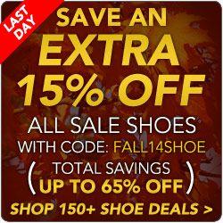 Fall Shoe Specials