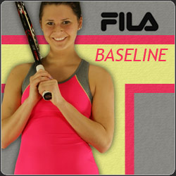 Shop the Fila Baseline Women's tennis apparel line