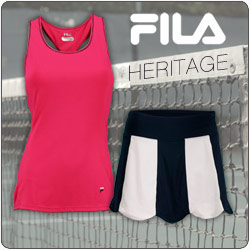 Shop New Fila Heritage women's tennis apparel for Fall 2014