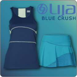 Shop Lija Blue Crush New Women's tennis apparel fall 14 line