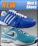 Offering a large selection of new men's tennis shoes for Spring 2013