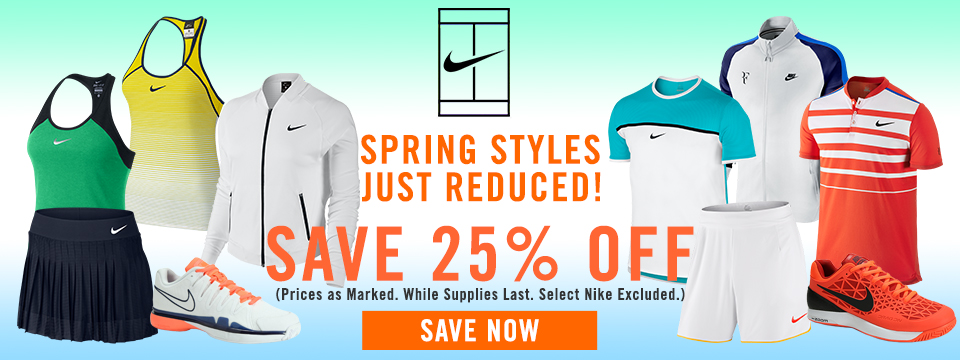 25% Off select Nike apparel and shoes