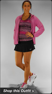 Nike Advantage Printed Tank and Woven Full Zip Jacket Tennis Outfit