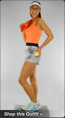 Nike Pro Tank and Woven Short Tennis Outfit