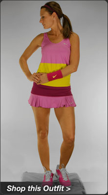 Nike Novelty Tank and Flirty Knit Skirt Tennis Outfit