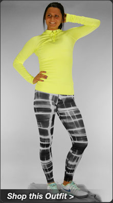 Nike Pro Hyperwarm Hoody and Pro Printed Tight Tennis Outfit