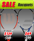 Sale Racquets from the top brands Head, Prince, Wilson, Babolat