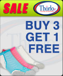 Buy 3 Pairs of Thorlo Socks Get One Free