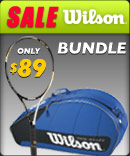 Great Wilson racquet and bag bundle deal