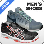 Offering a large selection of new men's tennis shoes for Fall 2013