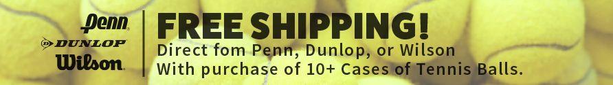 Free Shipping on Tennis Balls