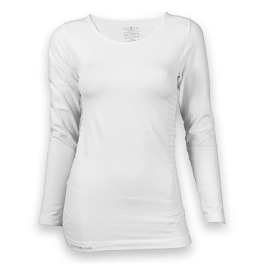 Pure Lime Seamless Long Sleeve Top - White