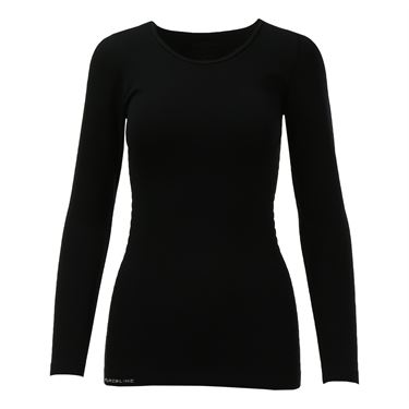 Pure Lime Seamless Long Sleeve Top - Black
