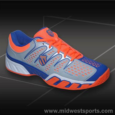 K-Swiss Big Shot II Mens Tennis Shoe-Storm/Blue/Safety Orange, 03025422