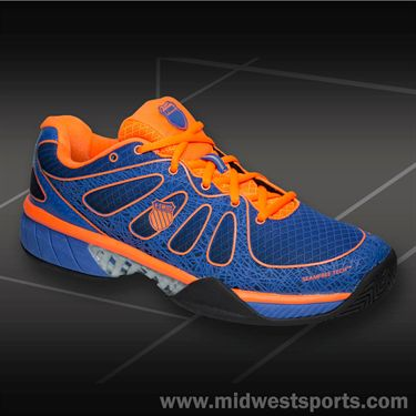 K-Swiss Ultra Express Mens Tennis Shoe-Blue/Orange, 03168007