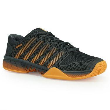 K Swiss Hypercourt Express Mens Tennis Shoe - Dark Shadow/Blazing Orange