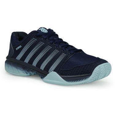 K-Swiss Hypercourt Express Mens Tennis Shoe - Black Iris/Blue Glow