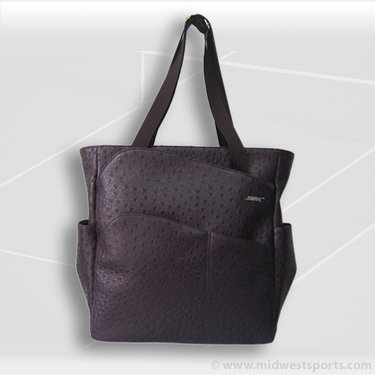 Jet Pac Jetsetter Ostrich Eggplant Tennis Tote