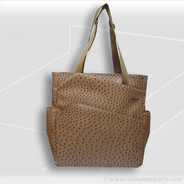 Jet Pac Jetsetter Ostrich Camel Tennis Tote