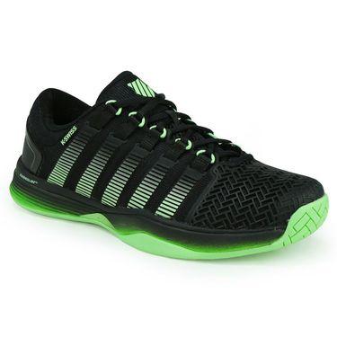 K-Swiss Hypercourt 2.0 Mens Tennis Shoe - Black/Paradise Green/Jasmine Green