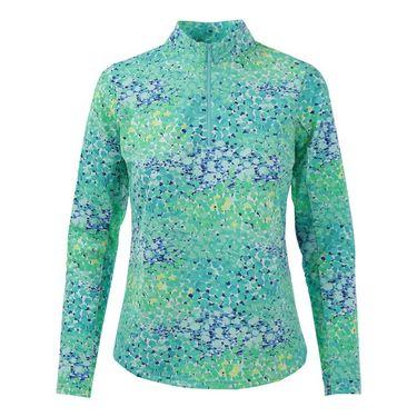 Icikuls Long Sleeve Mock Top - Turquoise
