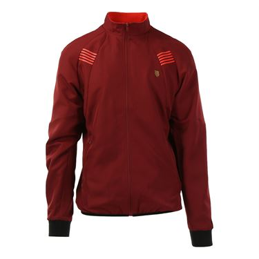 K Swiss BB Warm Up Jacket - Biking Red/Fiery Red