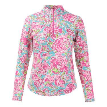 Icikuls Long Sleeve Mock Top - Hannahs Garden Pink
