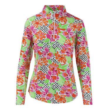 Icikuls Hera Long Sleeve Mock Top - Coral