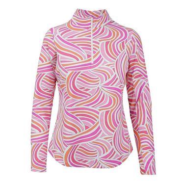 Icikuls Liza Long Sleeve Mock Top - Pink Multi