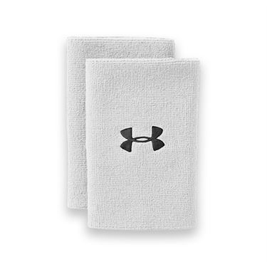 Under Armour 6 Inch Performance Wristband - White
