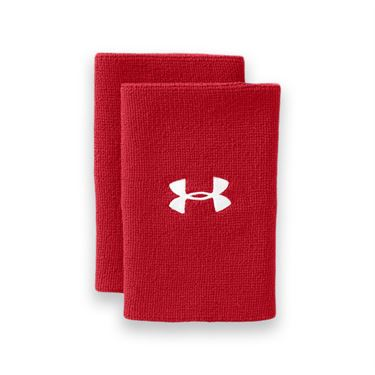 Under Armour 6 Inch Performance Wristband - Red