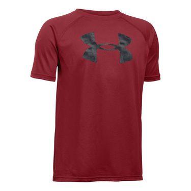 Under Armour Boys Tech Big Logo Tee - Cardinal