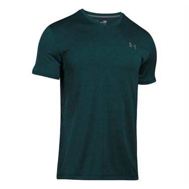 Under Armour Tech V Neck Tee - Arden Green/Graphite