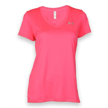 Under Armour Tech Short Sleeve Top - Pink Shock