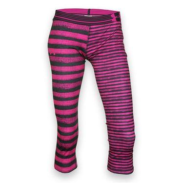 Under Armour Girls Printed Capri - Asphalt Heather/Rebel Pink