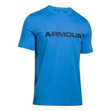 Under Armour Wordmark Tee - Water Medium Heather/Graphite/Midnight Navy